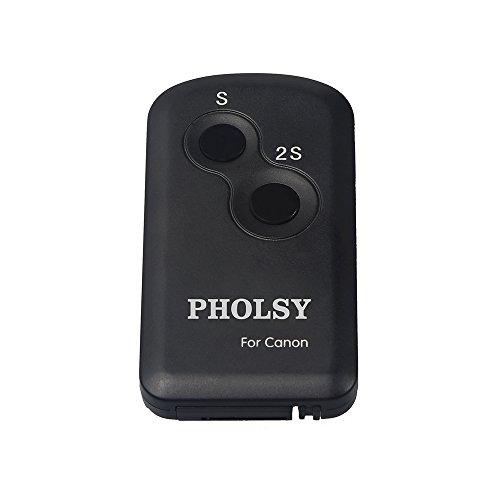 PHOLSY Disparador Inalámbrico con Infrarrojo para Canon Cámaras Reemplazar Mando a Distancia Inalámbrico Canon RC-6