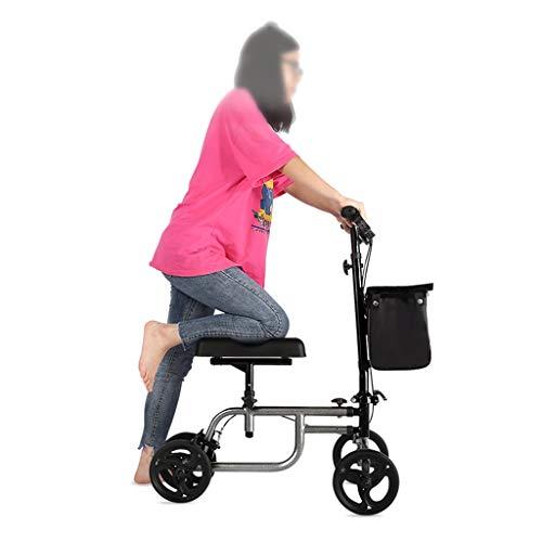 Accesorios para andadores con ruedas Knee Walker Knee Scooter Knee Walker Carrito De Rodillo Quad De Cuatro Ruedas Entrenamiento De Extremidades Inferiores A Cuatro Ruedas Ayuda Caminando Con Ayuda Pa