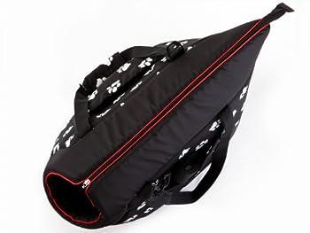 Hobbydog TORCWL3 Sac de Transport pour Chien et Chat Noir Motif Pattes 22 x 20 x 36 cm