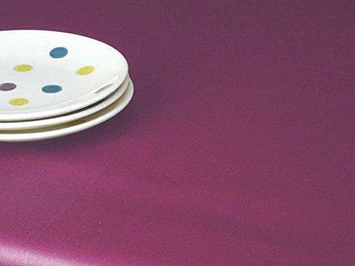 Fleur de soleil ~ Nappe Unis Prune Coton Enduit 160x300