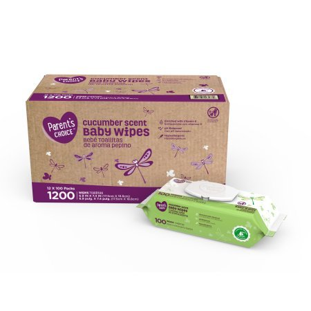 Special Campaign Parents Choice Baby Wipes 12 packs Cucumbe 70% OFF Outlet of 100 1200 count