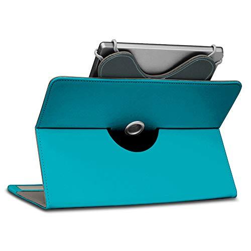 UC-Express Schutzhülle für Acer Iconia Tab 10 A3-A50 Tablet Tasche aus Kunstleder mit Standfunktion 360° Drehbar Hülle Schutztasche Ständer, Farbe:Türkis