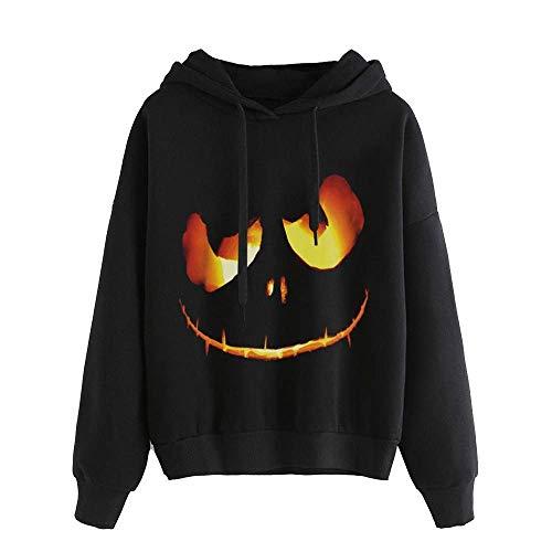 Damen Frauen Shirts Tops Streetwear Sweater Mädchen Elegante Sweatshirts Blusen Tuniken Kleider Herbst Winter 2018 Halloween Gedruckt Langarmshirt Pullover Kapuzenpullover