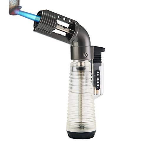 Micro Torch Arc Lighter - Soplete de butano recargable con llama ajustable de metal para soldadura (gas butano no incluido)