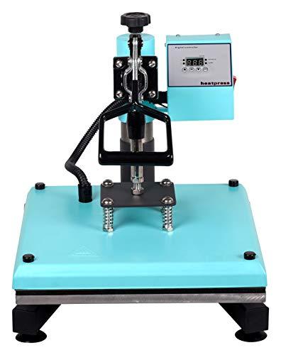 RICOO Transferpresse T538B-TB [38x38cm] T-Shirtpresse Heat Press Thermopresse Textilpresse für Transfer-Folie Transfer-Papier || Türkisblau || - 4