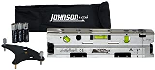 Johnson Level & Tool 40-6184 Three-Beam Magnetic Torpedo Laser Dot