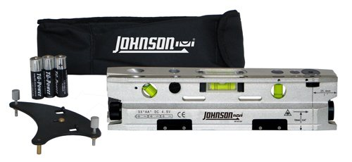 Johnson Level and Tool 40-6184 Three-Beam Magnetic Torpedo Laser Level -