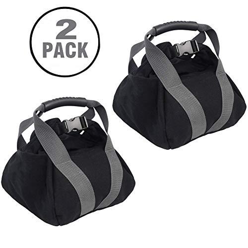 2 Pcs Adjustable Canvas-Kettlebell-Sandbag wtih Handle for Training Home Training, Yoga, Fitness