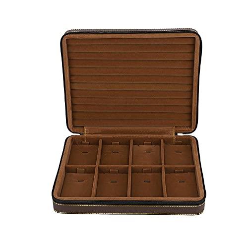 OH Cajas de Joyería de Cuero Pu para Collar Soporte de Alenamiento, Pendientes Collar Collar de Escritorio Joyería de Escritorio Caja de Alenamiento Moda
