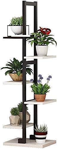 N/Z Equipo para el hogar Escalera Moderna Estantes de Flores de Madera Soporte para Plantas - Interior Exterior Jardín Patio Balcón - Jardinera de pie Estante para macetas