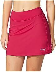 BALEAF Damskie spódnice tenisowe Skort sportowe z kieszenią i spodenkami wewnętrznymi do biegania, tenisa, golfa
