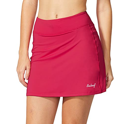 BALEAF Women's Athletic Skorts Lightweight Active Skirts with Shorts Pockets Running Tennis Golf Workout Sports Deep Pink Size XL