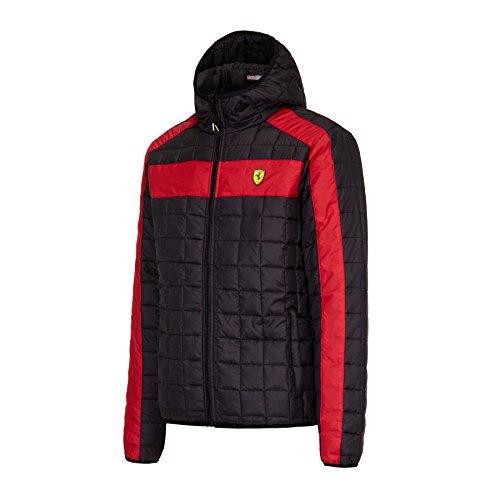 Ferrari - Cazadora para hombre con capucha Negro XXL