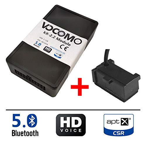 VOCOMO kX-2 VW V1 Bluetooth Freisprecheinrichtung inkl. Einbaumikrofon für VW Golf, Passat, Caddy, EOS, Sharan, Scirocco, T5, Polo, Tiguan, Touran/Skoda Fabia II, Octavia II, etc. / Seat Ibiza etc.