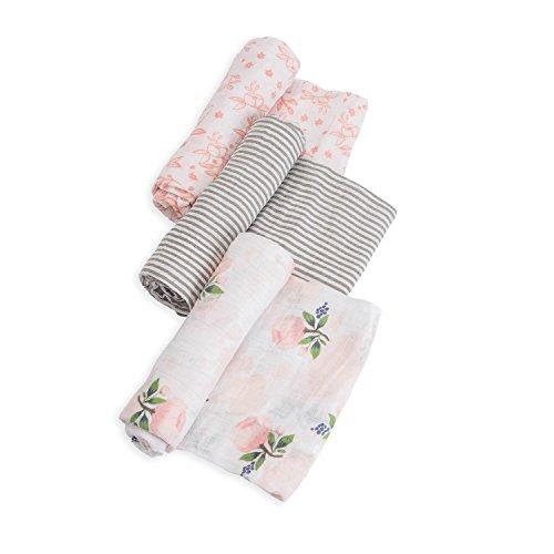 Little Unicorn Cotton Muslin Swaddle - Garden Rose Set - 3 Pk