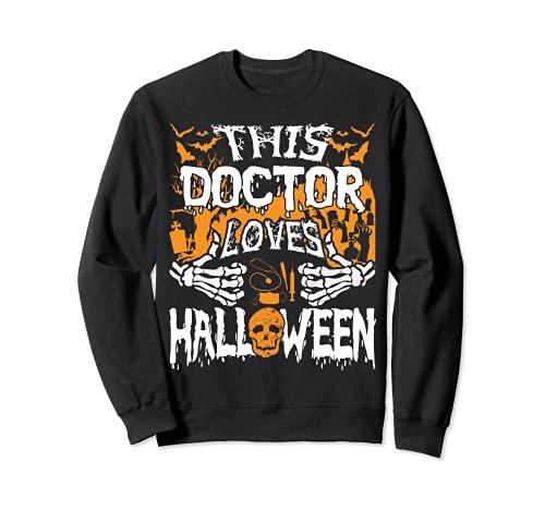 Este mdico ama Halloween Huesos Cirujano Divertido Mdico Sudadera
