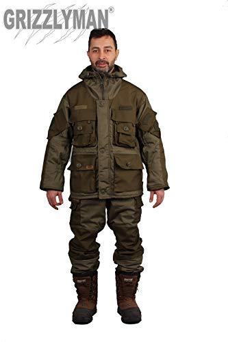 Grizzlyman Herren Anzug zum Angeln und Jagen, Militär-Stil, Größe L - 3XL (Ripstop), xl