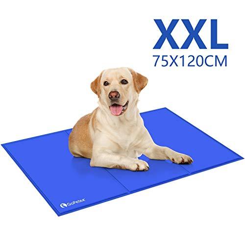 GoPetee Kühlmatte für Hunde Kühlkissen zur Abkühlung in der Sommerhitze Tiere Kühldecke geeignet für Zuhause unterwegs oder im Auto (XXL)