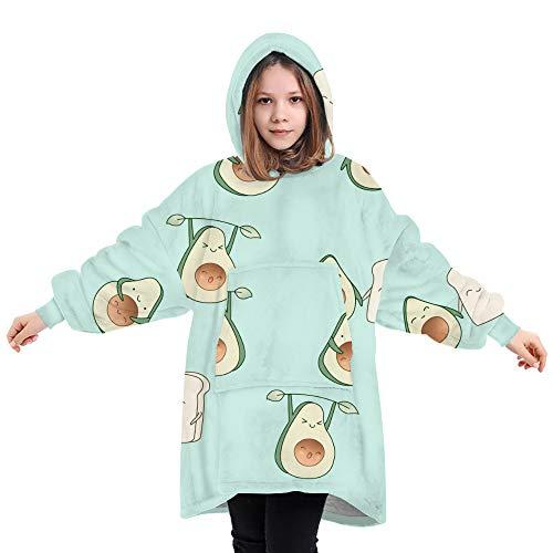 PIZOFF Kinder Avocado Brot Decke Kapuzenpullover mit Kapuze und Fronttasche zuhause Decke Sweatshirt Freizeitkleidung