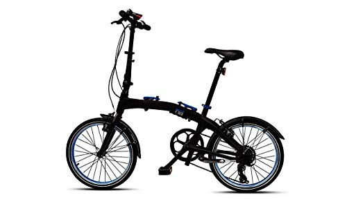BMW Original Folding Bike - Bicicleta plegable, color negro