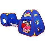 Authentic Maker Kinderspielzelt mit Spielhaus Tunnel und Zelt Tasche 3 in 1 Pop Up Spielzelt...