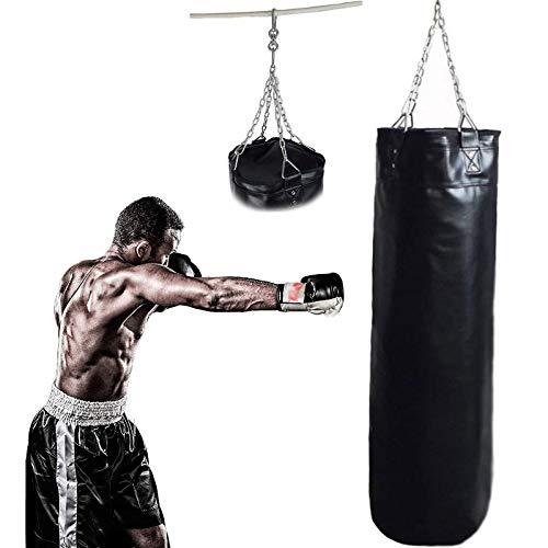 XHLLX Boxsack Boxset Gefüllter Schwerer Boxsack Strapazierfähiger Boxsack Segeltuch Funktioneller Boxsack Boxsack mit Kette Für Training Fitness Mma Kickboxen