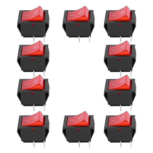 Interruptor basculante de encendido/apagado 16A250VAC 20A125VAC Interruptor simple de 2 posiciones Plástico KCD4 de 4 clavijas Resistencia al calor