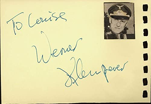 Werner Klemperer - Inscribed Signature Golan Luxury goods co-signed Gila By: National uniform free shipping