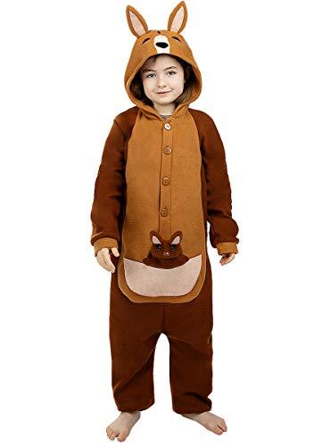 Funidelia   Disfraz de Canguro Onesie para niño y niña Talla 10-12 años ▶ Animales - Color: Marrón - Divertidos Disfraces y complementos para Carnaval y Halloween