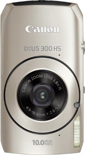 Canon IXUS 300 HS Digitalkamera (10 MPCMOS, 3, 8-fach opt. Zoom, 7,6cm (3 Zoll) Display) silber