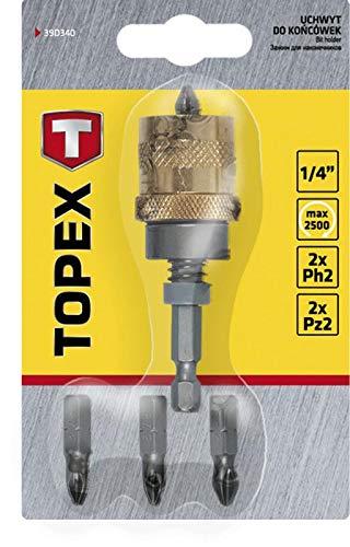 Topex 39d340–Dornmaß-Bits mit Tiefenanschlag