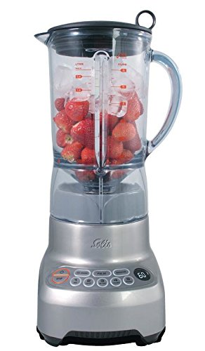 Solis Perfect Blender Pro Standmixer, 1,5 l, 1.200 W, Silber, Transparent, LCD, Standmixer, 1.200 W