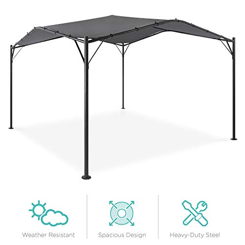 Best Choice Products 12x12ft Gazebo Canopy for Patio, Backyard w/Weighted Bags, Weather-Resistant, Easy Assembly - Gray