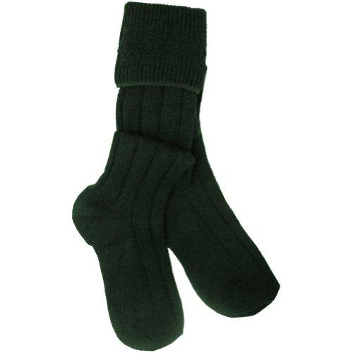 Bottle Green Wool Mix Scottish Kilt Hose/Sock UK Made 9.5-13