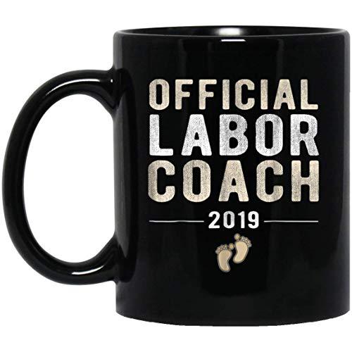 Official Labor Coach 2019 New Daddy Pregnancy 11 oz. Black Mug