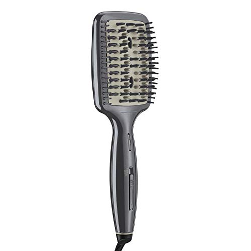 Conair INFINITIPRO BY CONAIR Diamond-Infused Ceramic Smoothing Hot Brush, metallic grey, 1 Count