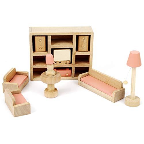 Uteruik Puppenhaus Miniatur Holzmöbel Kinderzimmer Sets für Kinder Geschenk 1 Set (#7)