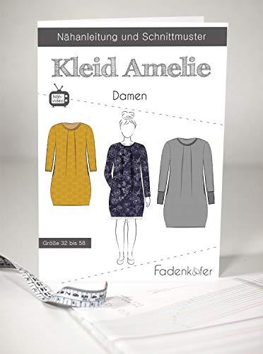Schnittmuster Fadenkäfer Kleid Amelie Damen Gr.32-58 Papierschnittmuster