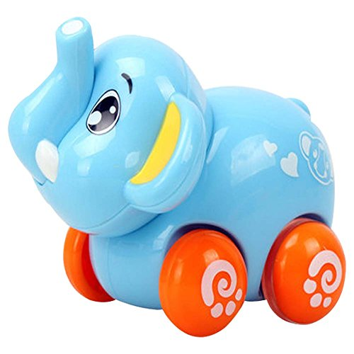 Blancho Lot de 2 Belle Elephant Car Wind-up Toy pour bébé / Enfant (Multicolor)