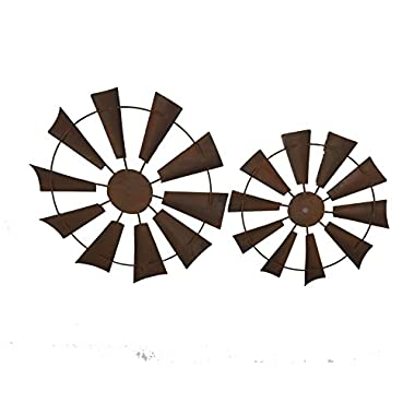 Craft Outlet 15  Rusty Windmill Decor Set (2 Piece)