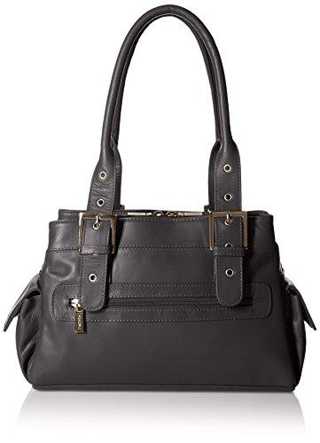 Visconti Sophia Leather Handbag Ladies/Top Handle Shoulder Bag, Black