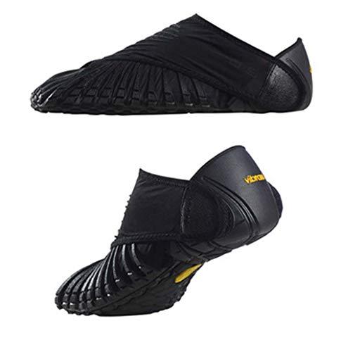 Vibram Wrap Zapatos, Zapatos Furoshiki De Cinco Dedos, Zapatos Yoga Portátiles Zapatos Los Deportistas,Negro,M