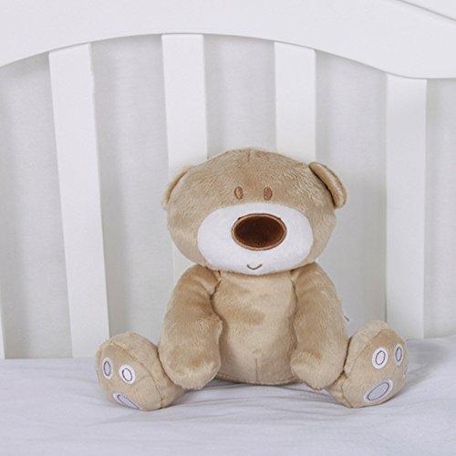 Morbuy Poupées de Couchage Bébé Appease Avec des Jouets Nouveau-nés Plush Animaux Bébé Cute Soft Peluche Activité Crib Poussette Jouets Toy Doll(20 * 25CM Ours )