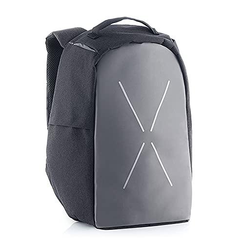Mochila Antirrobo Impermeable Unisex, 15.6 Pulgadas, Bolsa Negra con Puerto de Carga USB y Cremallera Invisible para Viajes, Trabajo o Estudio, Bolso para Ordenador Portatil, Backpack Multifuncional