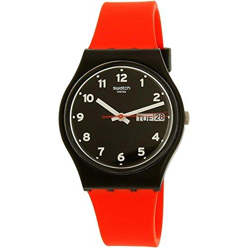 Swatch Reloj Analógico para Unisex de Cuarzo con Correa en Silicona G