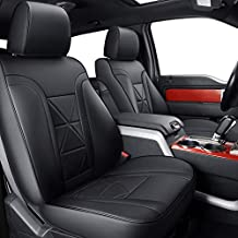 LUCKYMAN CLUB Custom Seat Covers Fit for 2009-2014 F150 Crew Cab with Waterproof Faux Leather (F2-Black)