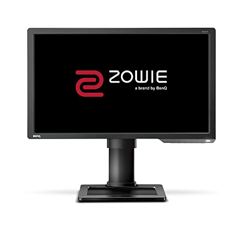 BenQ ZOWIE XL2411P - Monitor Gaming de 24 FullHD (1920x1080, 1ms, 144Hz, HDMI, Black eQualizer, Color Vibrance, Altura Ajustable, No soporta 120Hz en consola ) - Gris Oscuro