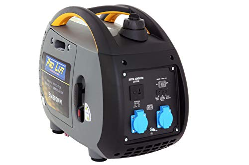 Pro-Lift-Gereedschappen inverter stroomgenerator 1800 W digitale generator 230 V 4-takt benzinemotor stroomgenerator noodstroomaggregaat omvormer stroom