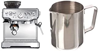 Breville BES870XL Barista Express Espresso Machine and Update International (EP-12) 12 Oz Stainless Steel Frothing Pitcher Bundle