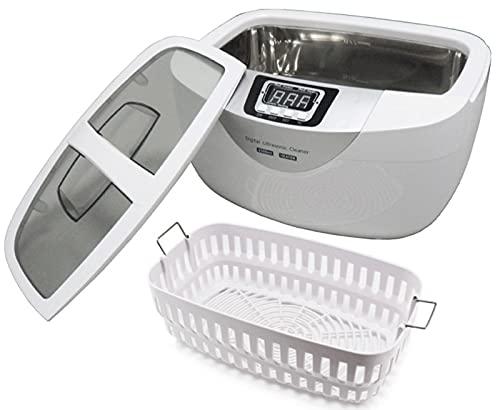 Limpiador de Joyas 2500ml Limpiador ultrasónico 40kHz Limpiador de baño ultrasónico Profesional, 65 Grados Limpieza de calefacción para Limpieza de Joyas de Lentes Anillos Relojes Collares